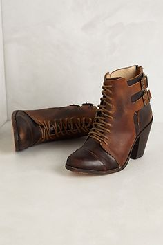 Trotter Buckle Booties #anthropologie