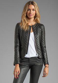 ANINE BING Quilted Jacket in Black - New