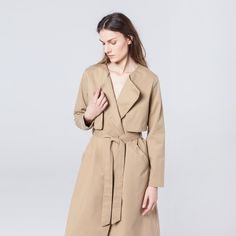 Wave Trench Beige Trench, Waves, Beige, Coat, Jackets, Fashion, Moda, Fasion, Peacoats