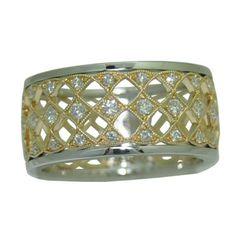 0.34 Cttw. Diamond Band https://www.goldinart.com/shop/diamond-bands/0-34-cttw-diamond-band #DiamondBand, #YellowWhiteGold