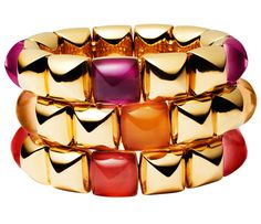 40s: Vhernier bracelets - Fabulous at Every Age: Resort Chic