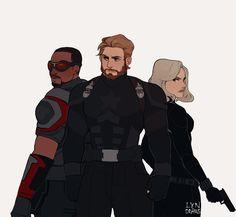 Ooh, love this fanart. Marvel Fan Art, Marvel Dc Comics, Marvel Heroes, Marvel Avengers, Romanogers, Mundo Comic, Bucky, Avengers Infinity War, Marvel Movies