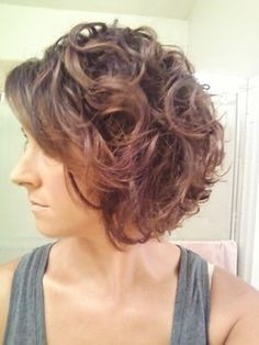 Curly bob after 8 months cg & growth from almost pixie cut! - Brunette, 3a, Medium hair styles, Readers, Female, Adult hair hairstyle pictur...