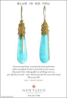 Peruvian Opal Cones from Nan Fusco Jewelry nanfusco.com