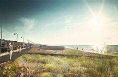 Primer Lugar Concurso Plan Maestro de Ordenamiento Urbano y Territorial del Borde Costero y Paseo del Mar / Mas Fernandez Architects Cortesía de Mas Fernandez Arquitectos