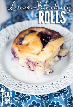 Need a break from Pumpkin Spice??  Try these amazing Blueberry-Lemon Rolls; perfect for breakfast, brunch, or after dinner treat!