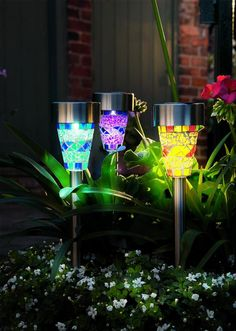 Solar Mosaik 3pk VL Flerfarget | Lampehuset Solar Lights, White Wine, Barware, Alcoholic Drinks, Champagne, Planter Pots, Balloons, Tableware, Glass