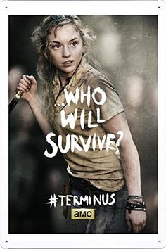 The Walking Dead / Beth / Tin Sign Plate Metal TV Drama Poster (A-TVS04853) Wall Decor 8x12 inches Artwork by Ham Poster