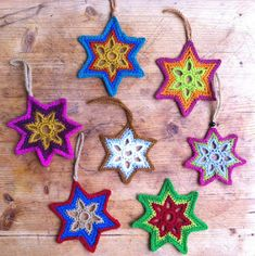 Crochet Christmas Star + Diagram + Free Pattern