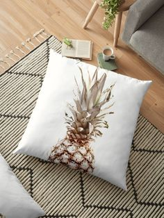 Buy Any 2 Pillows & Get 15% OFF! Pineapple Floor Pillow by ARTbyJWP via Redbubble #homedecor #floorpillow #shop #shopping #homestyle #cushion #pineapple - Features: Vibrant double-sided print throw pillows to update any room. Independent designs, custom printed when you order. Soft and durable 100% Spun Polyester cover with an optional Polyester fill/insert. Concealed zip opening for a clean look and easy care
