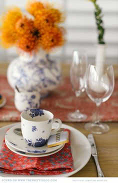 African Inspired Table Setting
