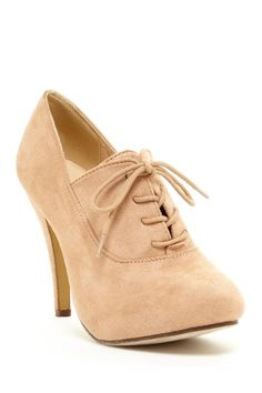 Nude Oxford Bootie