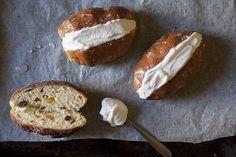 Sweet Yeasted Roman Buns with Whipped Cream (Maritozzi)