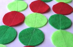 Red Green and Bright Green Felt Garland for by heartFeltbyA, $7.00