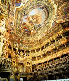 Sala de espetáculos - Margravial Opera House (séc. XVIII) - Bayreuth, Alemanha.