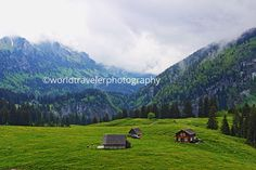 Mountain Photography; Swiss Alps; Small Town Photography by WorldTravelerPhotos on Etsy