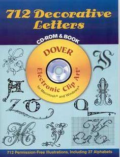 712 Decorative Letters CD-ROM & Book Clip Art