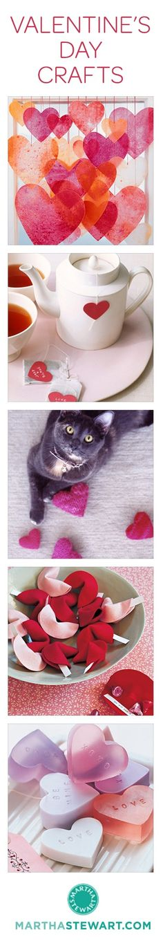 There's still time for last-minute Valentine's Day crafting! Here are 25+ of our favorite Valentine's Day crafts from Martha Stewart Living.