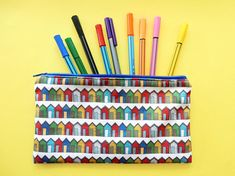 Your place to buy and sell all things handmade Pencil Cases, Pencil Pouch, Ice Cream Design, Beach Gifts, Pouches, Colored Pencils, Seaside, Printing On Fabric, Unique Gifts