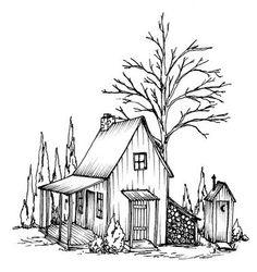 Countryside cottage Wood Burning Crafts, Wood Burning Art, Wood Burning Stencils, Wood Crafts, Coloring Sheets, Coloring Pages, Colouring, Wood Patterns, Pattern Ideas