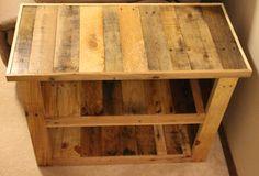 Muebles de madera reciclada Pallet mesa auxiliar por FasProjects