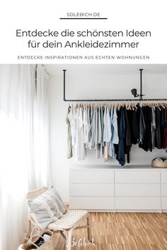 The most beautiful ideas for your dressing room! Picture: Villa Neustadt The most beautiful ideas for your dressing room! Living Spaces, Living Room, Interior Decorating, Interior Design, Villa, Wardrobe Rack, Home Furniture, Bedroom Furniture, Family Room