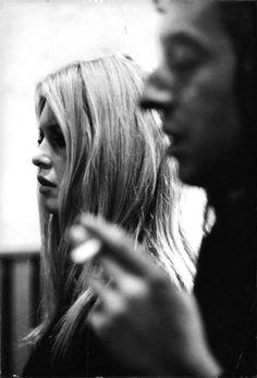 Brigitte Bardot & Serge Gainsbourg, 1967| @andwhatelse