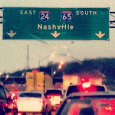 Nashville traffic can get a little crazy here at rush hour!