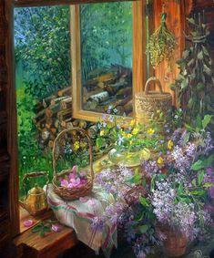 Владимир Жданов. Весенние пейзажи за окном, Зелёно-изумрудное то буйство, С морскою гладью, бесконечным дном, Нерукотворное великое искусство…