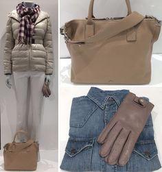 #SMaxMara -Design For Easy Living. Creme farvet kort dun jakke og buks. #Mulberry Taske Small Alice og skindhandske #Altea Tørklæde #PoloRalphLauren Denim skjorte. www.FLOT.nu