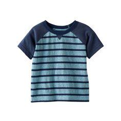 Baby Boy Jumping Beans® Striped Raglan Tee, Size: 18 Months, Turquoise/Blue (Turq/Aqua)