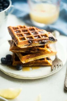 Made with vanilla almond milk, vanilla protein, coconut flour, and coconut sugar, these waffles perfectly portioned for one are a feel-good way to start the day. Get the recipe.
