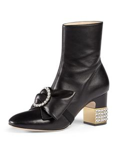 Candy+Leather+Buckle+Boot,+Black+by+Gucci+at+Bergdorf+Goodman.