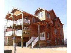 Upscale beach house with elevator & pool - Nags Head Vacation Rental #travel #getaway