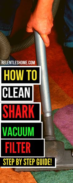 HOW TO CLEAN SHARK VACUUM FILTER – A STEP BY STEP INSTRUCTION Calendar Reminder, Shark Vacuum, Water Tap, Hepa Filter, Relentless, Vacuums, Step By Step Instructions, Bathroom Ideas, Filters