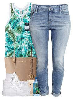 """""""6/20/15"""" by janiceeveillard ❤ liked on Polyvore featuring MICHAEL Michael Kors, Vans and H&M"""