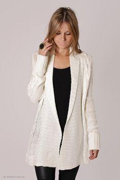 sylvia white knit card