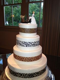 Wedding Cake Topper for Hunting Couple