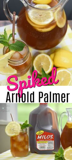 Are you looking for the perfect summer cocktail? Get ready for fun and relaxation with this Spiked Arnold Palmer recipe made with @drinkmilos Famous Sweet Tea! #MilosMoments #ad