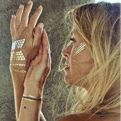 DAKOTA from Flash Tattoos...perfect for festival season and Burning Man.  Yayyyy.  #burningman #style