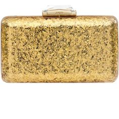 Rental Kotur Gold Ross Espey Minaudiere ($110) ❤ liked on Polyvore featuring bags, handbags, clutches, accessories, gold, gold clutches, gold glitter handbag, kotur minaudiere, beige handbags and glitter clutches