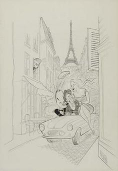 AL HIRSCHFELD. Paris Holiday.