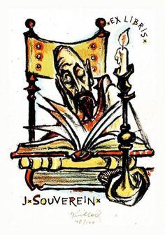 Don Quixote. Ex Libris by Bohuslav Knobloch