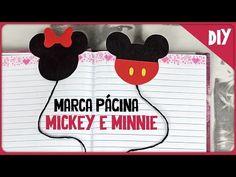Marca página do Mickey e Minnie =DiY - YouTube