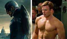 Captain America's Training Plan: To look like a superhero on screen, you need to train like a superhero in the gym. These fitness tips from actor Chris Evans will make you stronger, bigger, and better! Captain America Training, Captain America Body, Chris Evans Captain America, Captain America Workout, Chris Evans Tumblr, Chris Evans Funny, Hugo Weaving, Tommy Lee Jones, Steve Rogers