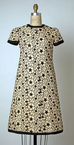 dresses from 1965 | Dress, André Courrèges, ca. 1965, French, wool | vintage