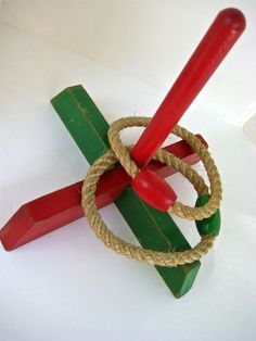 RIng Toss Lawn 1940 Vintage Outdoor Game - Old Fashioned Lawn Game