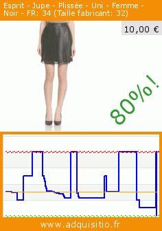 Esprit - Jupe - Plissée - Uni - Femme - Noir - FR: 34 (Taille fabricant: 32) (Vêtements). Réduction de 80%! Prix actuel 10,00 €, l'ancien prix était de 49,99 €. https://www.adquisitio.fr/esprit/jupe-pliss%C3%A9e-uni-femme-3