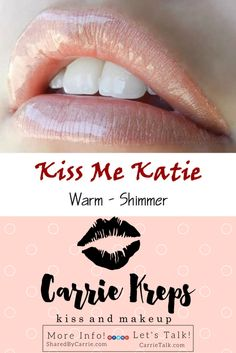 #Kiss #Me #Katie  - #LipSense by #SeneGence #Lip #Color - get your Kiss Me Katie today - #Warm #Shimmer. Message me or CLICK below to find out what I have in stock and to place your Order!  I would #LOVE to help you pick out your Colors and Gloss. www.j-c-k.us/LipSenseColorPics   WEB: www.J-C-K.us/CarrieKreps  MORE INFO: www.J-C-K.us/SharedByCarrie  LET'S CHAT: www.J-C-K.us/CarrieTalk