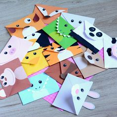Printable Silly Animals Envelopes (PDF File)